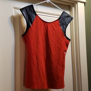 Express red and black top. New. Size Large